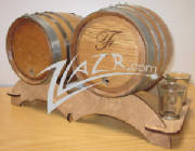 ZLazr Laser Engraving - Oak Aging Barrels Custom Laser Engraved with art work logos and text.